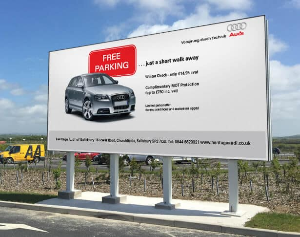 Outdoor Advertisement for Bristol and the South West - Audi - CS Hoarding -