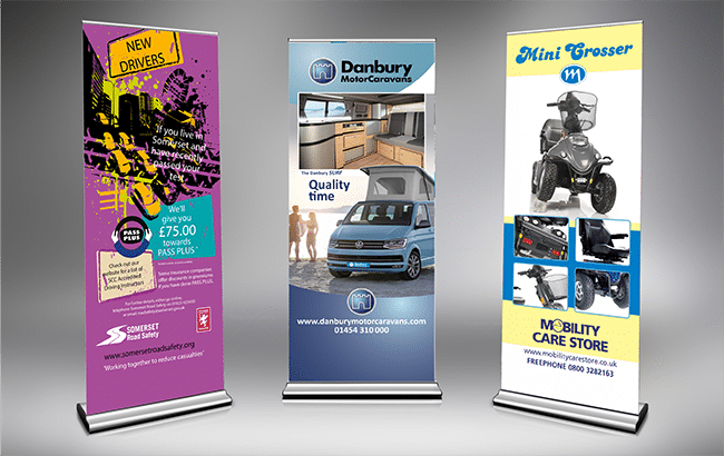 roller banners design by Red Thread Creative