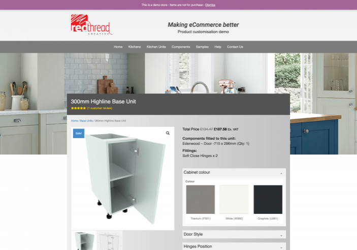 Featured Image for Woocommerce customisable products 300mm-Highline-Base-Unit-–-Product-customisation-demo