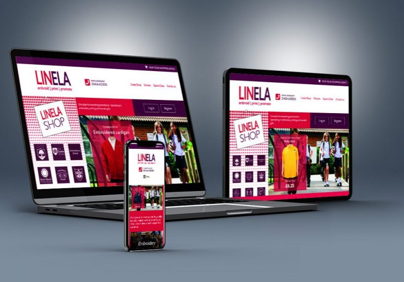 UK web designers ecommerce Linela Shop